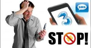3 metodi per Bloccare Disattivare SMS pubblicitari della 3