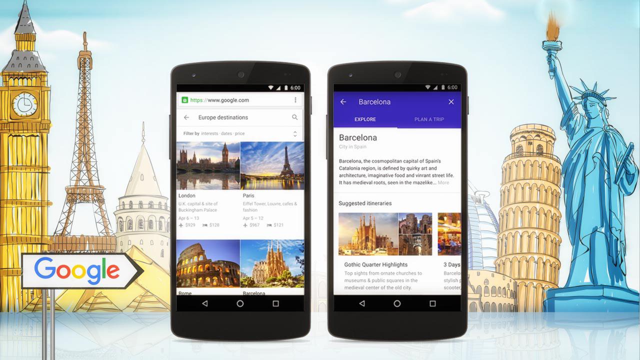 Google Destinazioni: Organizzare viaggi e vacanze