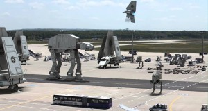 Le astronavi di Star Wars invadono l'aeroporto di Francoforte
