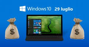 Windows 10 diventerà a pagamento dal 29 luglio