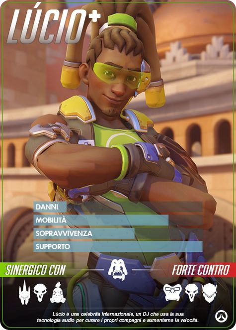 Overwatch Lúcio carta