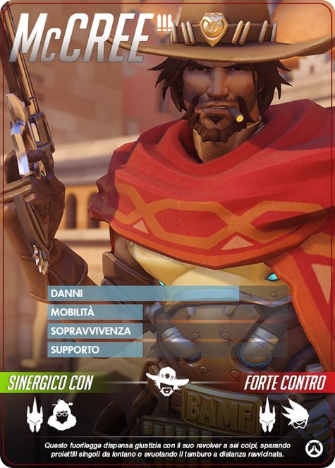 Overwatch McCREE carta