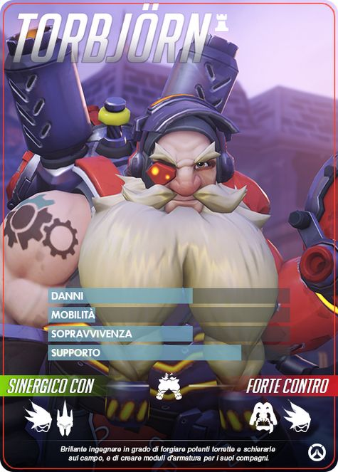 Overwatch TORBJORN carta