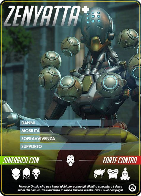 Overwatch ZENYATTA carta