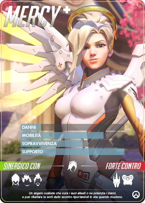 Overwatch MERCY carta
