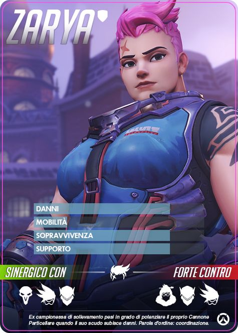Overwatch zarya carta