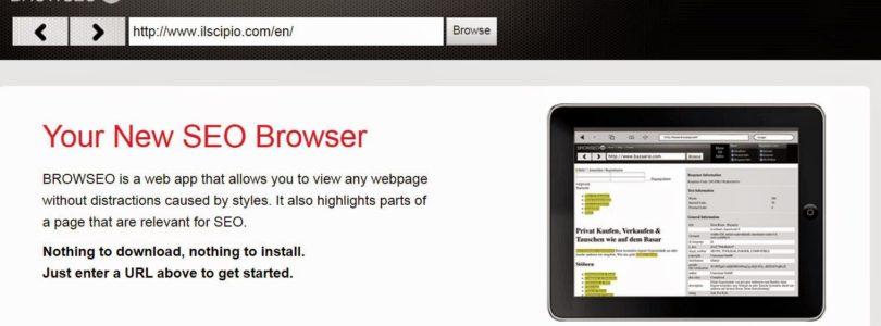Browseo: guardare con gli occhi di un motore di ricerca