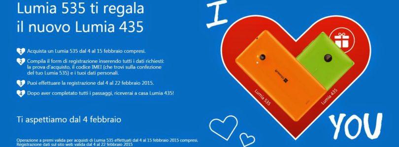 Promozione Microsoft: Lumia 435 in Regalo!