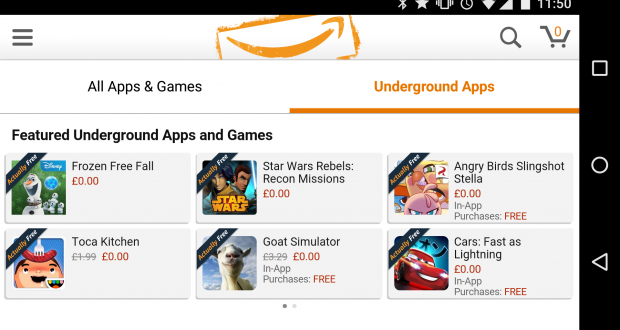 Amazon Underground Scarica gratis le App a Pagamento