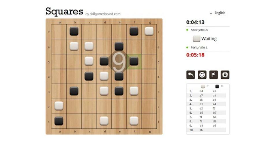 Squares Un nuovo Gioco da Tavolo Online realizzato da SkillGamesBoard