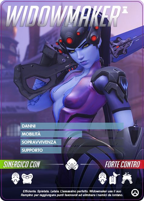 Overwatch  widowmaker carta