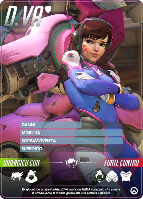 Overwatch D.VA carta