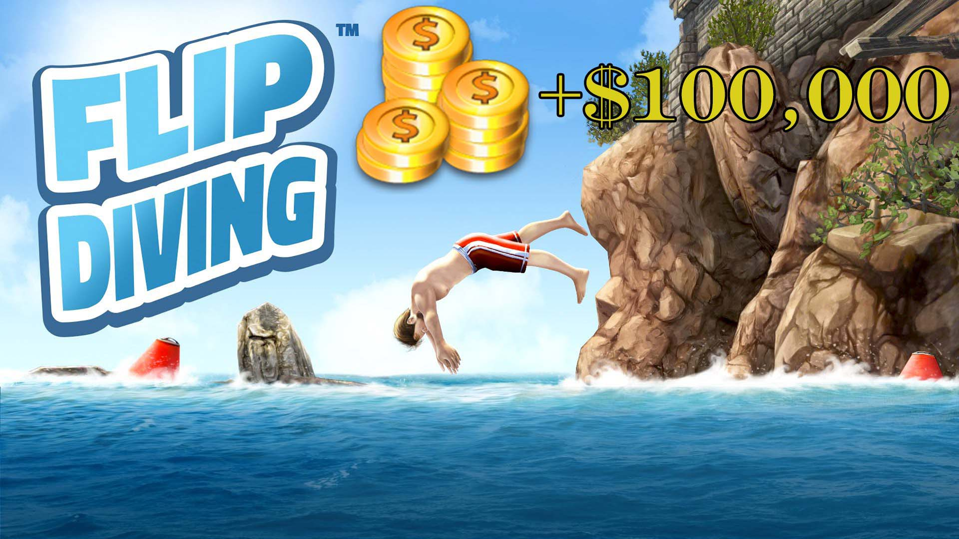 Trucchi Flip Diving: 5000 monete per tuffo (soldi infiniti)