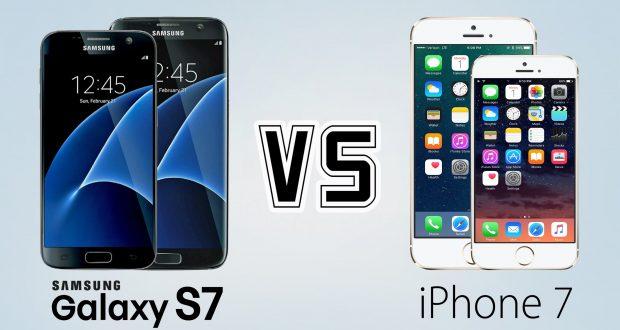 iPhone 7 vs Galaxy S7: Confronto, Prova, Test velocità e acqua