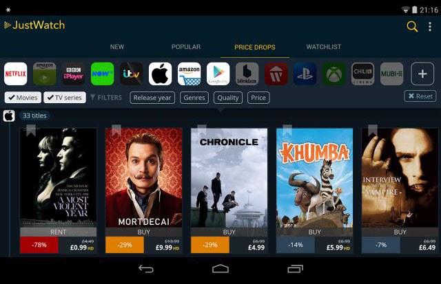 JustWatch: Cerca e trova film streaming online