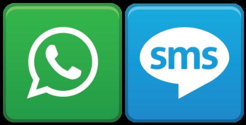 WhatsApp sta eliminando gli SMS, - 75% in 5 anni