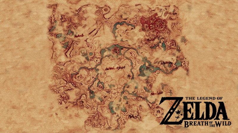 La mappa completa di The Legend of Zelda Breath of the Wild