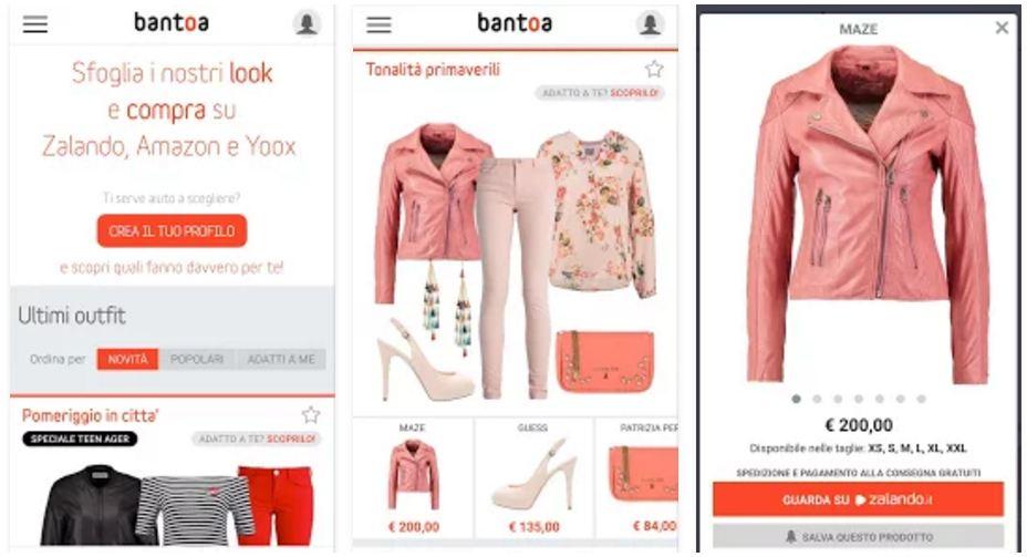 Bantoa: app per acquisti abbinati su amazon, zalando e Yoox