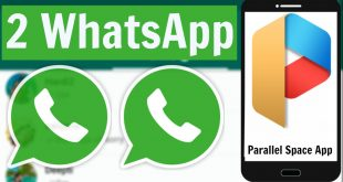 Due account Whatsapp, Facebook, Twitter su un telefono