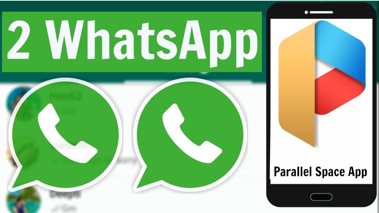 Due account Whatsapp, Facebook, Twitter su un telefono