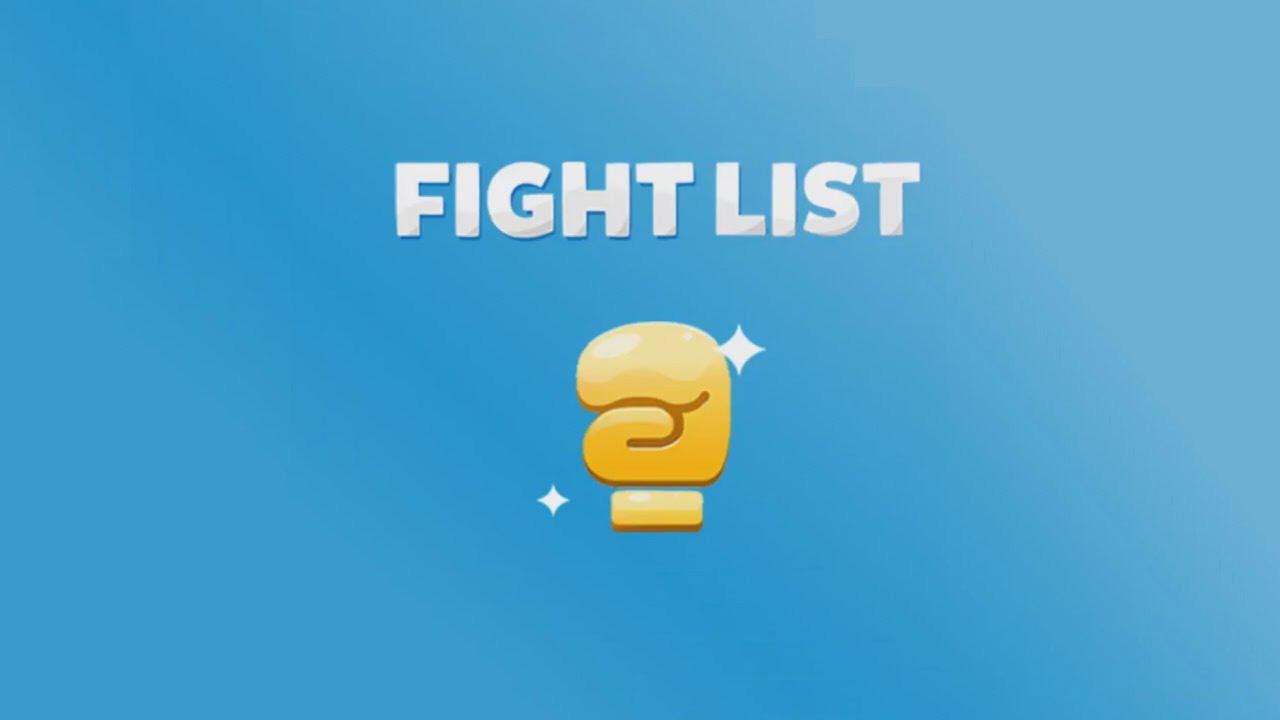 soluzione fight list parole da scoprire divise per categorie