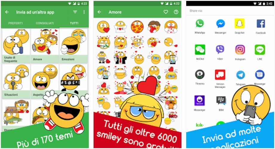 6.000 Emoji e Faccine per WhatsApp Gratis con Ochat