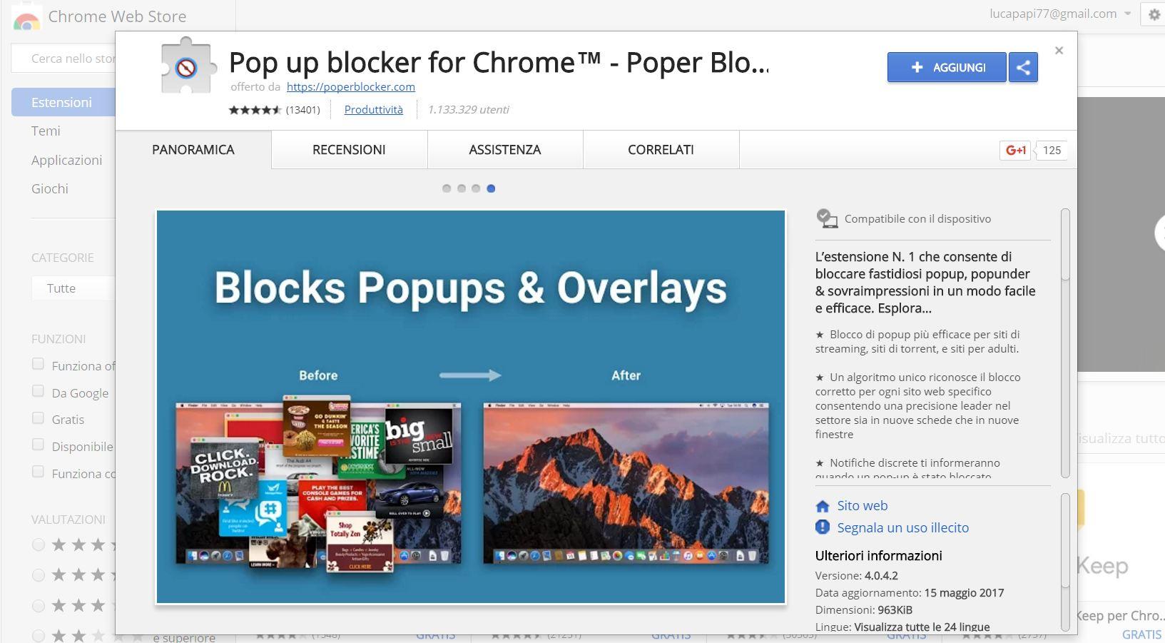 Bloccare fare clic su aggiungi estensione per chiudere - Bloccare finestre pop up ...