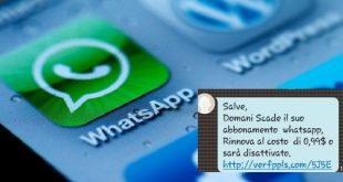 """""""Domani Scade WhatsApp"""" La nuova truffa! Come difendersi"""