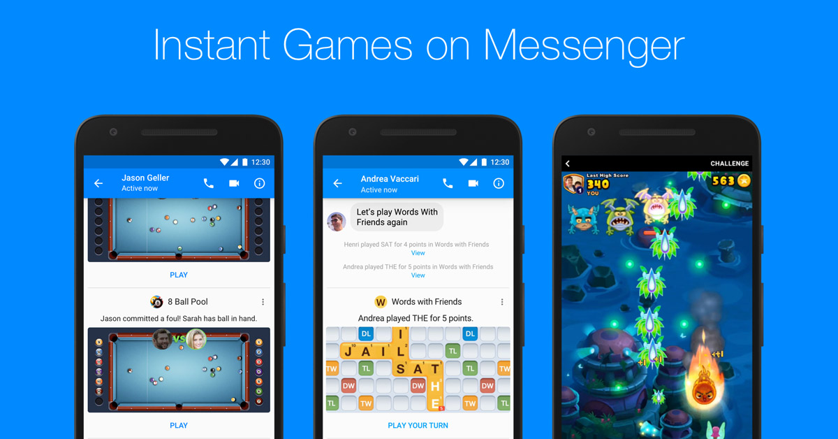 Messenger Instant Games: 50 Giochi per la chat di Facebook