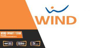 Wind Smart 7 Star: 1000 minuti e 15 Giga a 7€ ogni 4 settimane