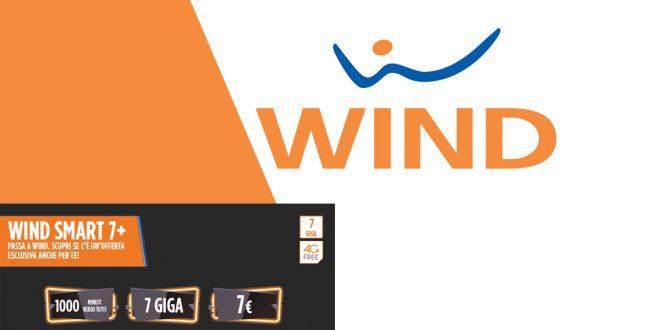 Wind Smart 7+: 1000 minuti e 7 Giga a 7 Euro ogni 4 settimane