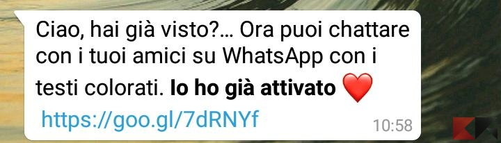 WhatsApp e i Nuovi Testi Colorati attenti alla Truffa 2