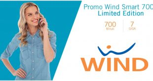 Wind Smart 700+ Limited Edition: 700 minuti e 7 Giga a 9 euro