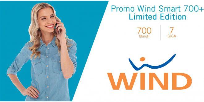 Wind Smart 700+ Limited Edition: 700 minuti e 7 Giga a 9 euro