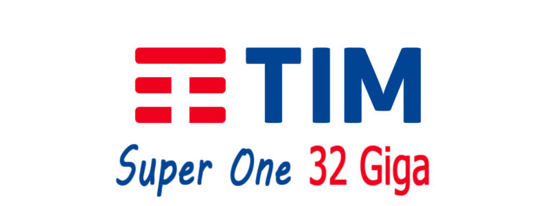 Nuova offerta Tim Super One: 32 Giga e Minuti illimitati