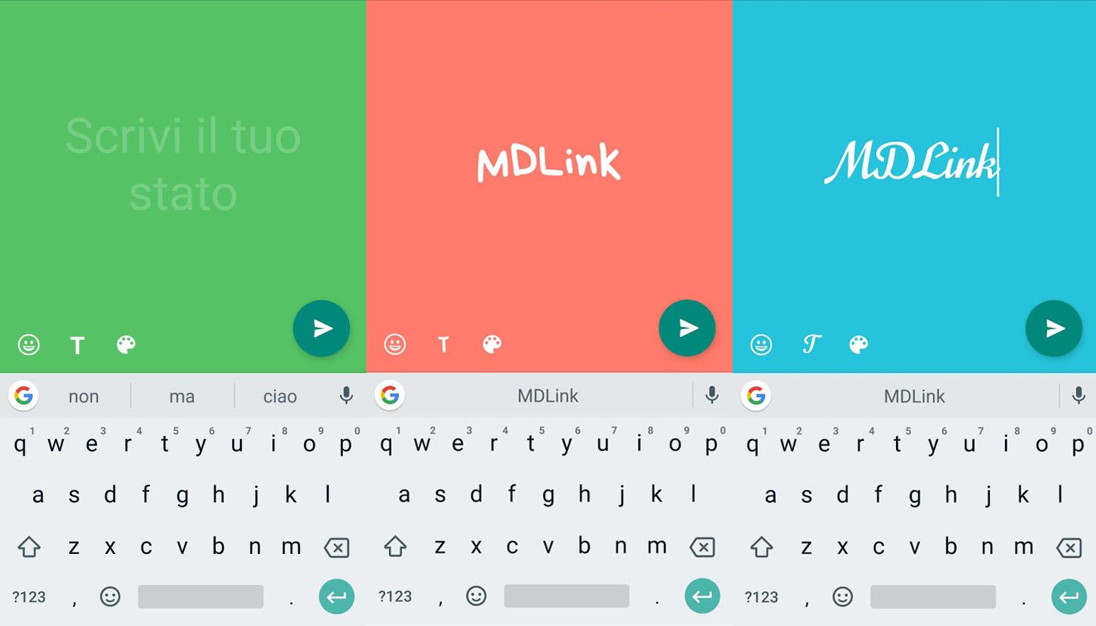 Stato Colorato WhatsApp come creare le scritte con sfondo a colori