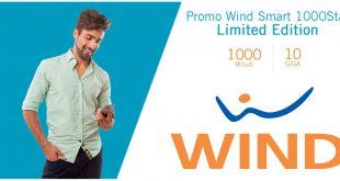 Wind Smart 1000Star: 1000 minuti e 10 Giga ogni 28 giorni