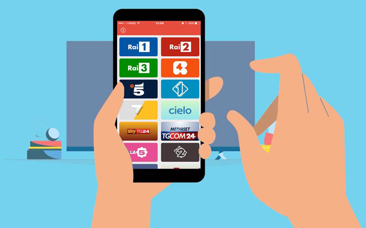App canali tv android e ios per vedere la tv gratis for App per vedere telecamere su android