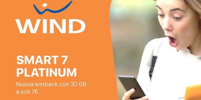 Super Offerta Wind Smart 7 Platinum: 30 Giga e 1000 minuti a 7 euro