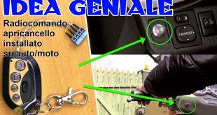 IDEA GENIALE come aprire il cancello elettrico da scooter / auto - tartaglia channel