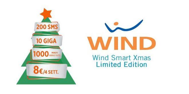 Offerta Natalizia Wind Smart Xmas 10 GB, 1000 minuti, 200 SMS a 8€
