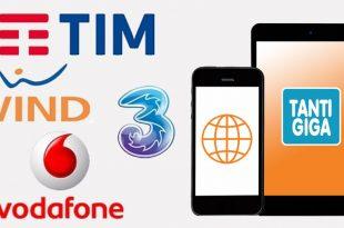 Offerte con Tanti GIGA | Tim Vodafone Wind Tre |