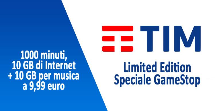 TIM GameStop: 1000 minuti, 10 GB + 10 GB per musica a 9,99€