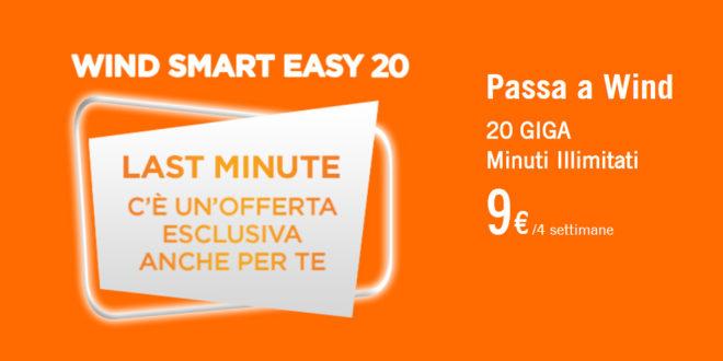 20 Giga e minuti illimitati con Wind Smart Easy 20 a 9€