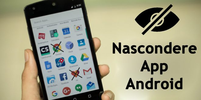 Nascondere app android