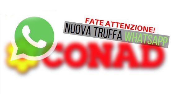 WhatsApp: Attenti al buono sconto Conad 500€ che ti ruba il credito