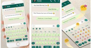 App tastiera a tema WhatsApp colori e grafica uguali alla chat
