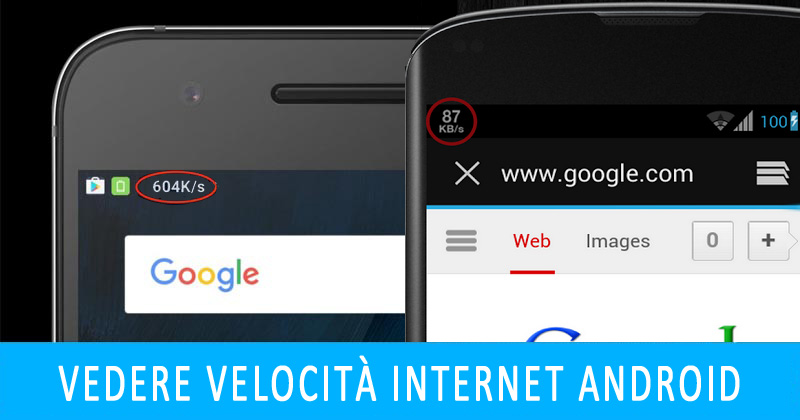 Vedere velocità internet Android nella barra notifiche