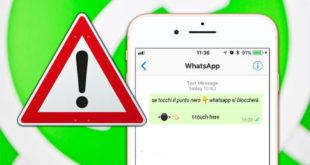 Attenzione al messaggio che blocca WhatsApp, Telegram e Messenger