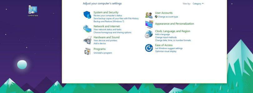 5 modi veloci per aprire il Pannello di controllo di Windows 10